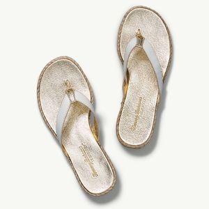 Tommy Bahama Iona white leather espadrille sandal